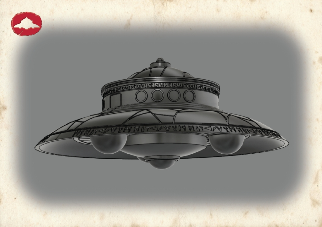 Biga flying saucer 3D model 01