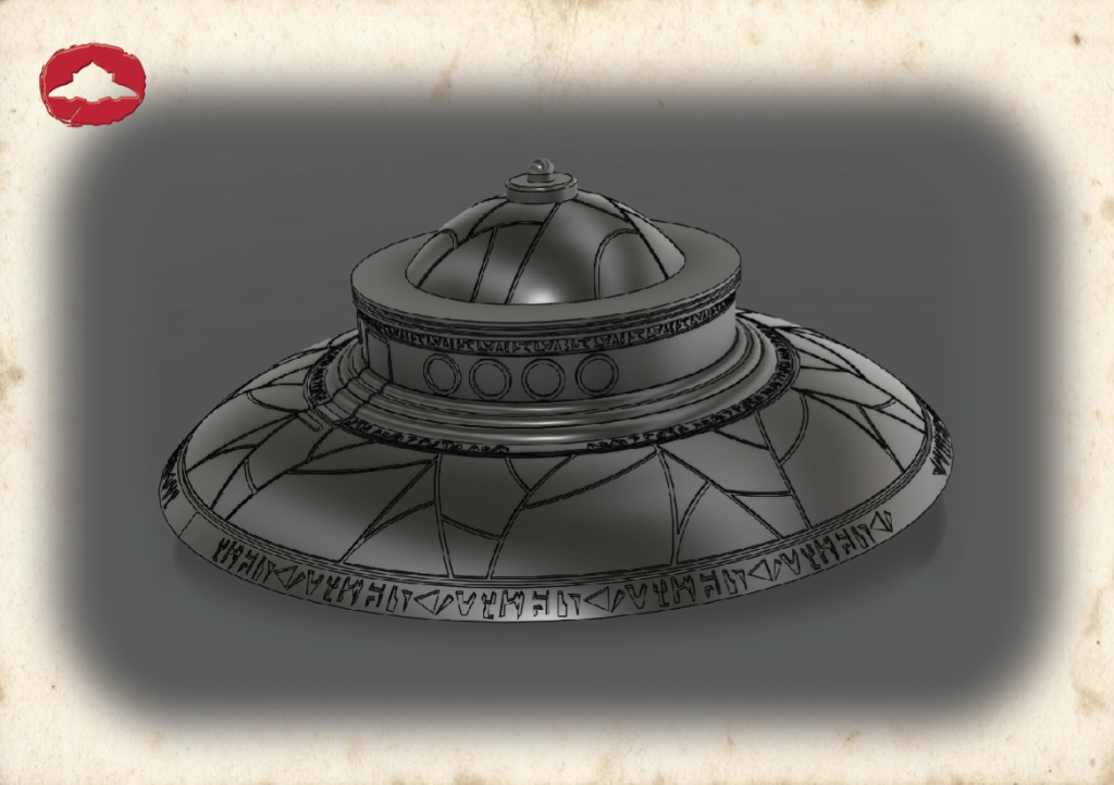 Biga flying saucer 3D model 02