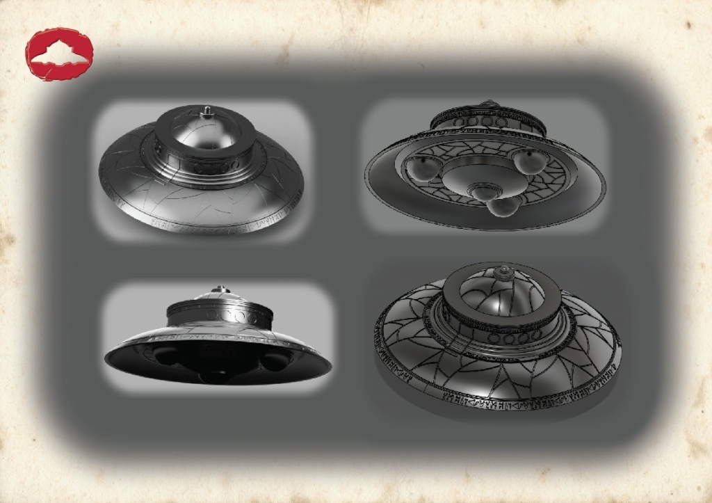 Biga flying saucer 3D model 03